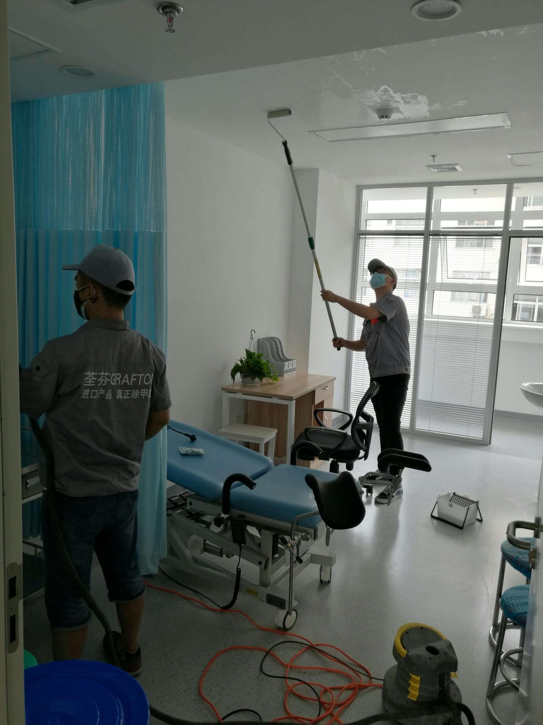 陕西省妇幼保健院顶面滚筒施工